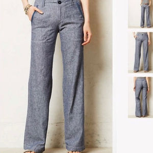Pilcro linen bootcut pants Anthropologie